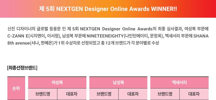 제 5회 NEXTGEN Designer