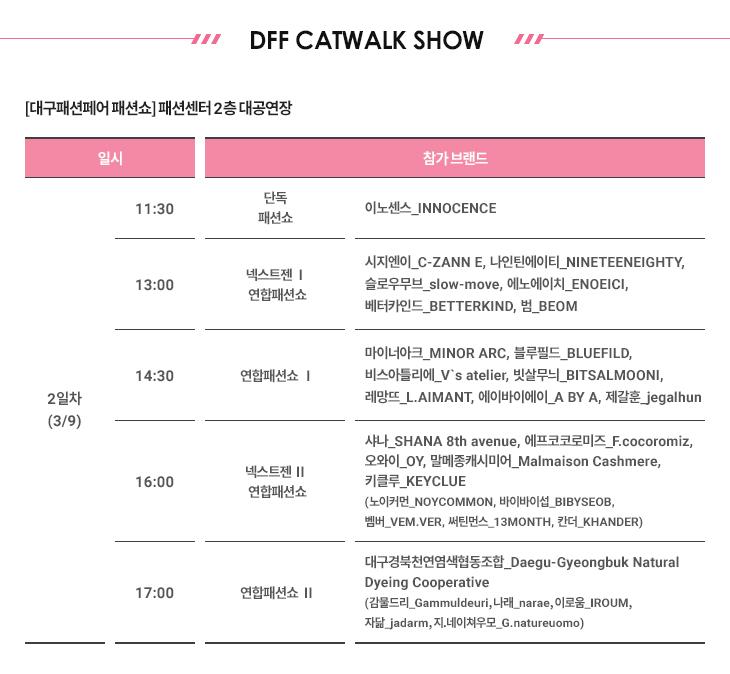 DFF CATWALK SHOW